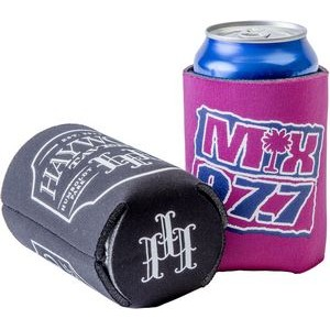 FoamZone Premium Collapsible Can Cooler with Bottom Imprint